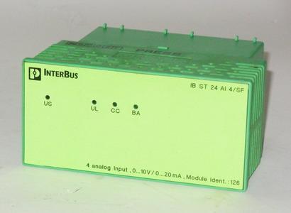 Phoenix Interbus IB STME 24 ai4//sf 2750060 with IB STTB 24 ai4//sf 9283129