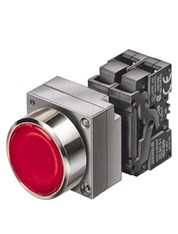 Siemens - 22MM METAL ROUND COMPLETE UNIT COMBINATION: ILLUMINATED PUSHBUTTON